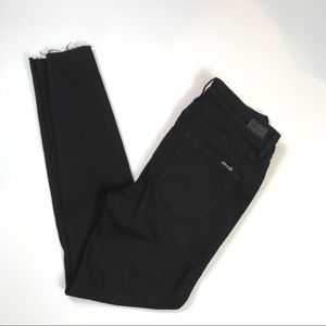 7 For All Mankind Jeans - Seven 7 Skinny Mid Rise Midnight Black Raw Hem 🌛